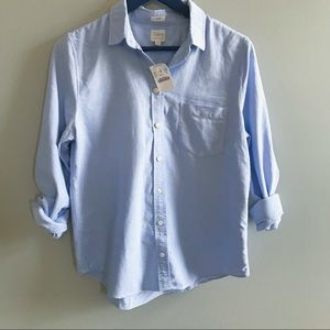 NWT J. Crew light blue button down shirt